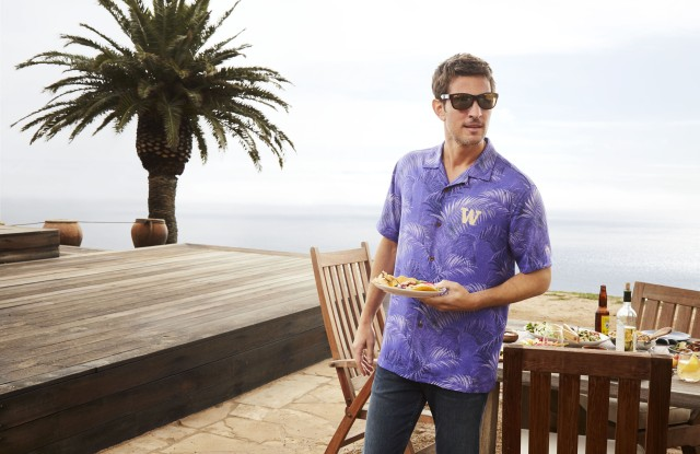 A look from the Tommy Bahama Collegiate collection.