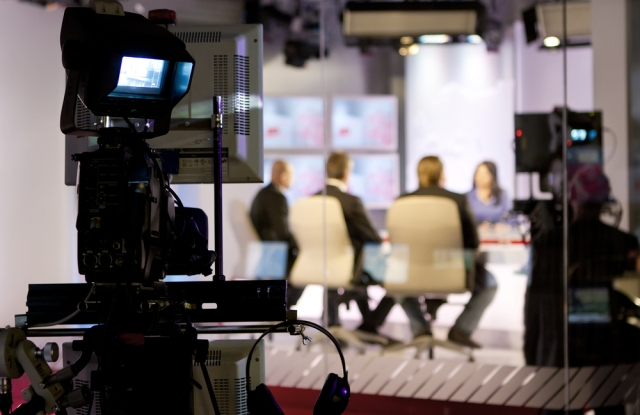 TV studio.