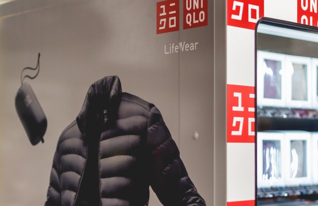 The Uniqlo To Go vending machine.