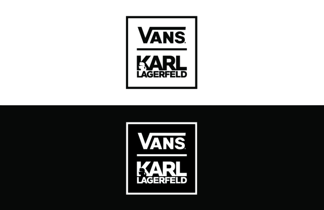 The logo for the Vans and Karl Lagerfeld collaboration.