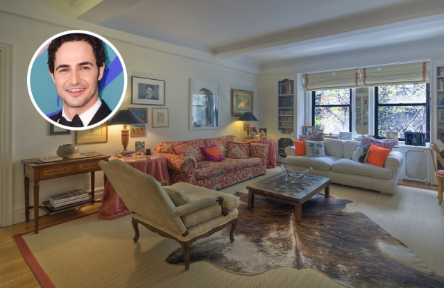 This is what the apartment looked like when Zac Posen bought it in 2013.