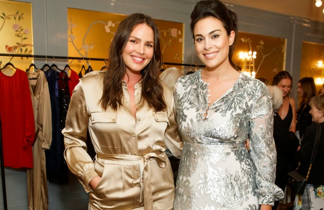 SAN FRANCISCO, CALIFORNIA - September 20 -  Candice Huffine and Libby Leffler Hoaglin attend 11Honorè Launches at Park Tavern on September 20th 2017 at Park Tavern in San Francisco, California (Photo - Drew Altizer)