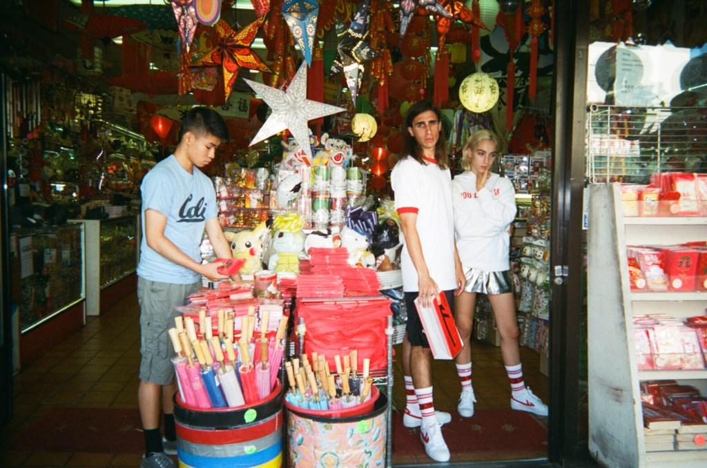 The ad campaign was shot in LA's Chinatown.