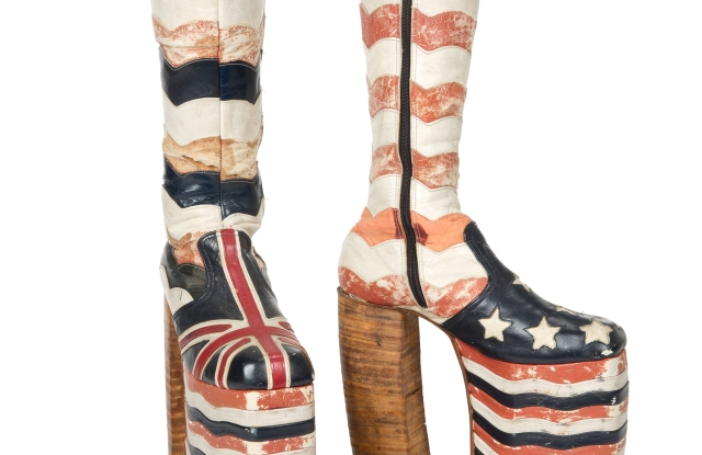 Tommy Hilfiger will be auctioning these vintage platform boots.
