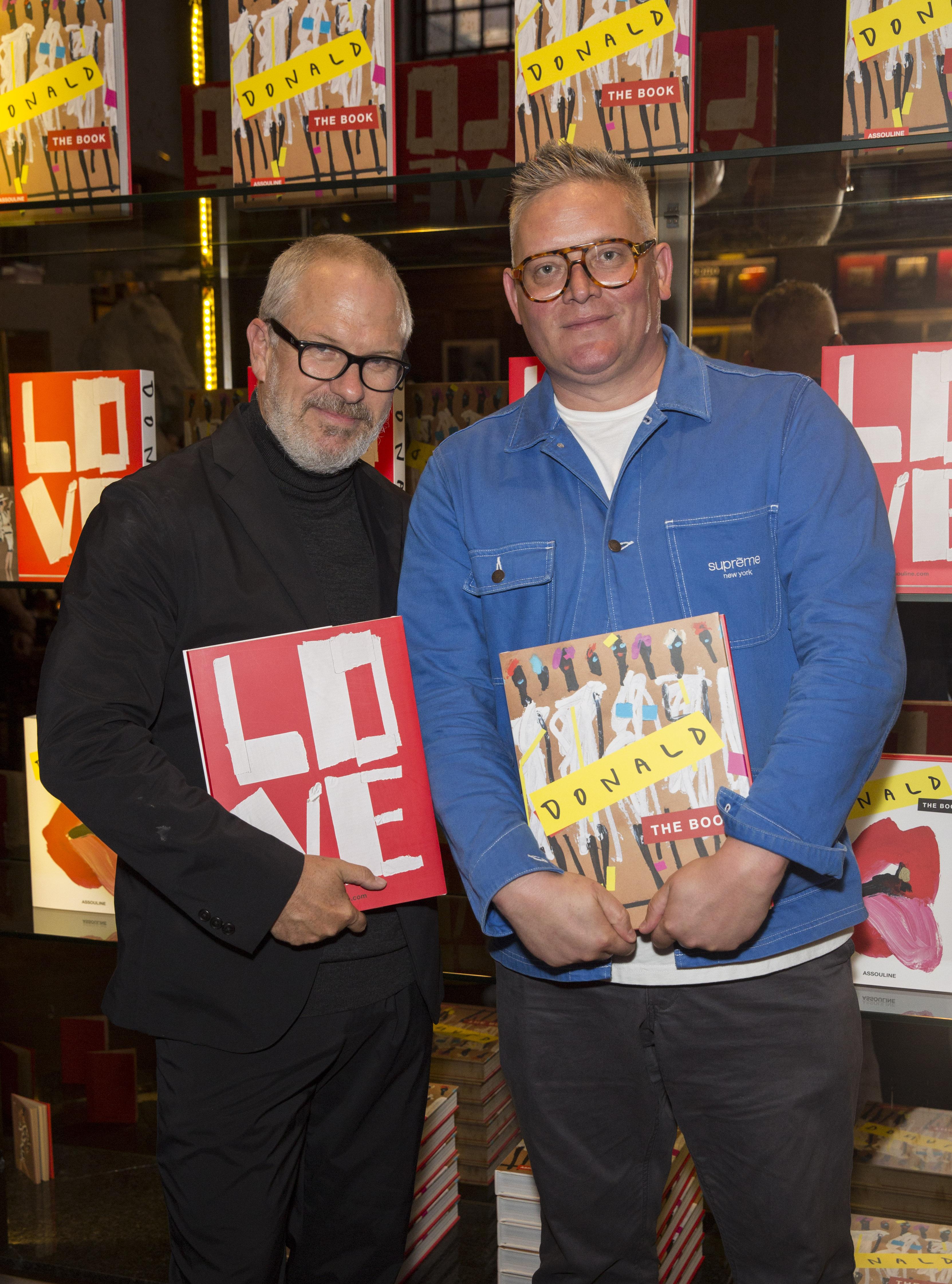 Giles Deacon and artist Donald Robertson