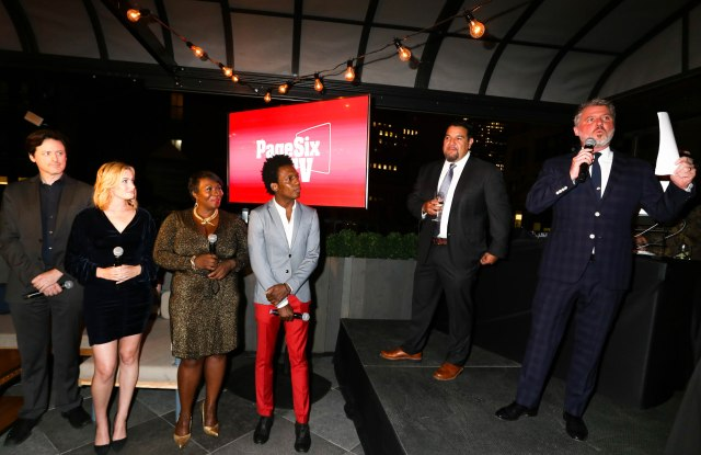 John Fugelsang, Elizabeth Wagmeister, Bevy Smith, Carlos Greer, Cris Abrego and Jesse Angelo at the Page Six TV Launch Party.