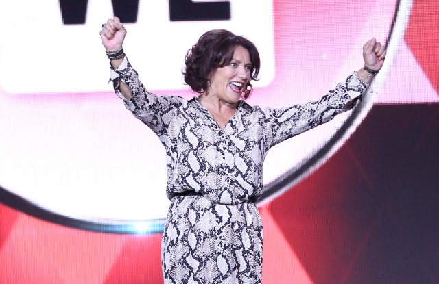 NEW YORK, NY - SEPTEMBER 20:  Margaret Trudeau speaks onstage at We Day New York at The Theater at Madison Square Garden on September 20, 2017 in New York City.  (Photo by Monica Schipper/Getty Images for We Day)