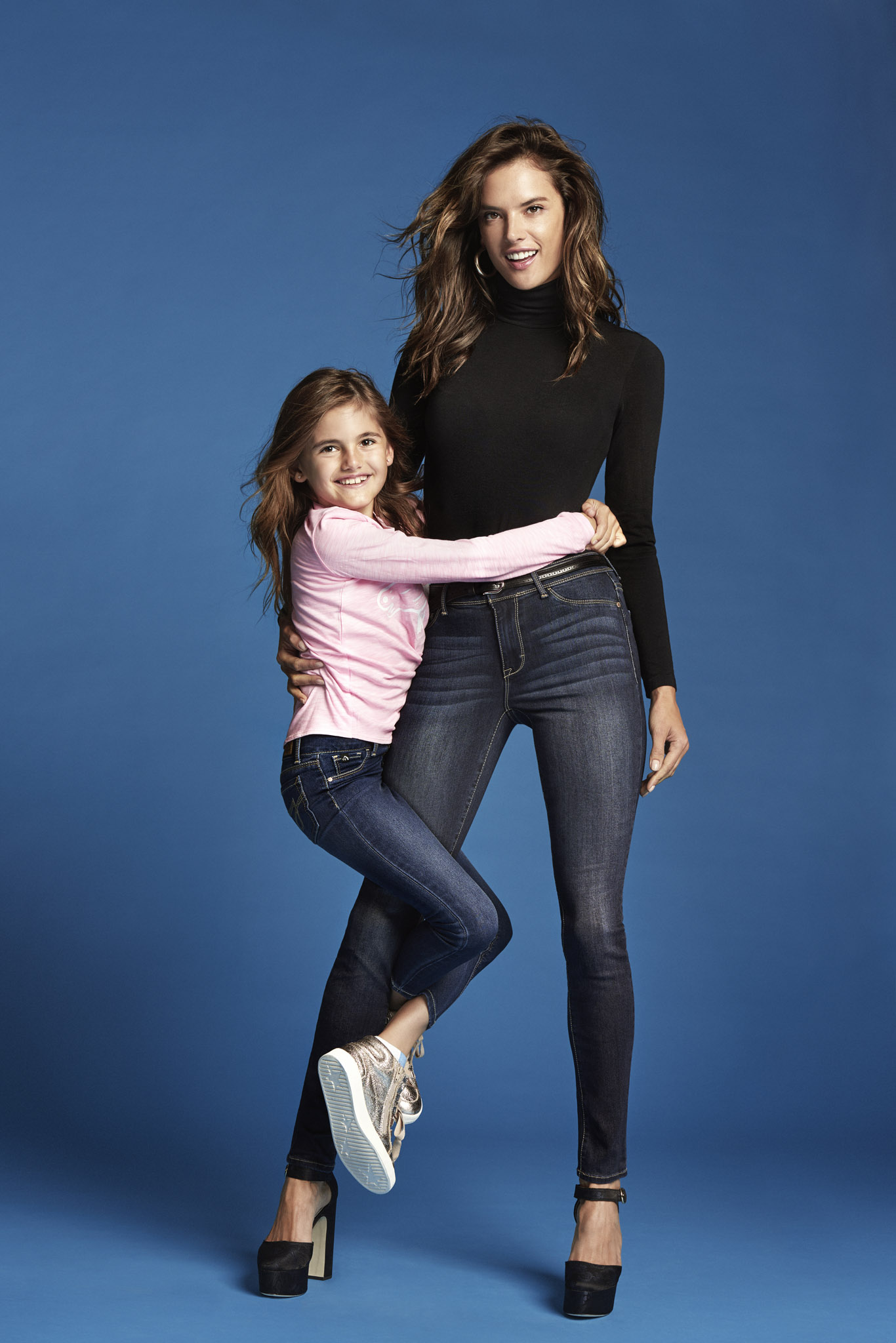Jordache campaign featuring Alessandra Ambrosio and her daughter