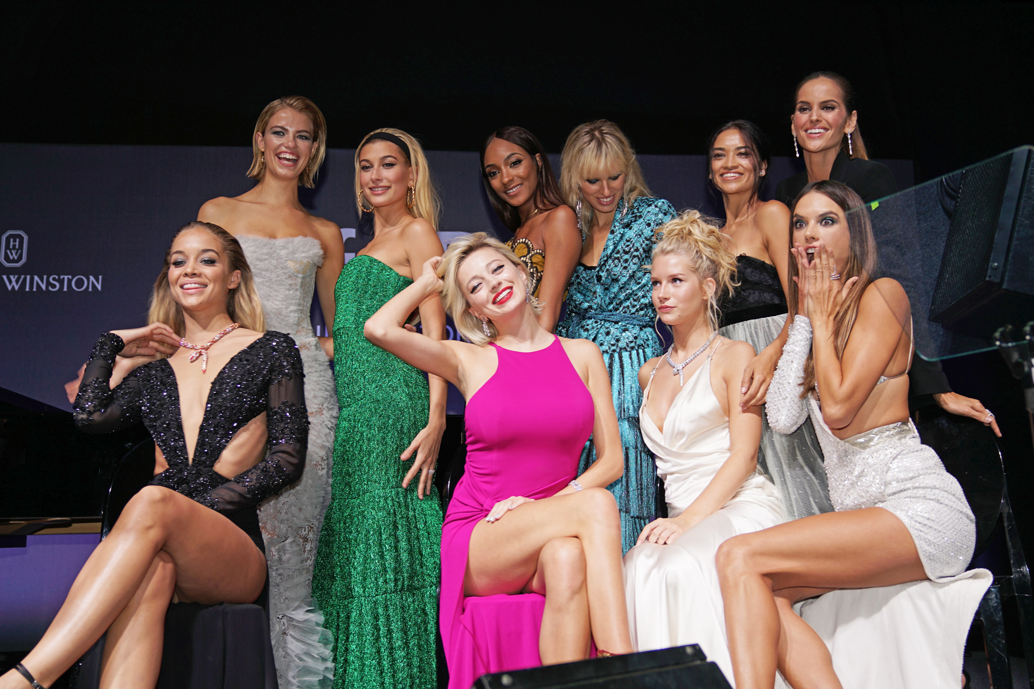Models pose for Ellen Von Unwerth at the AMFAR gala