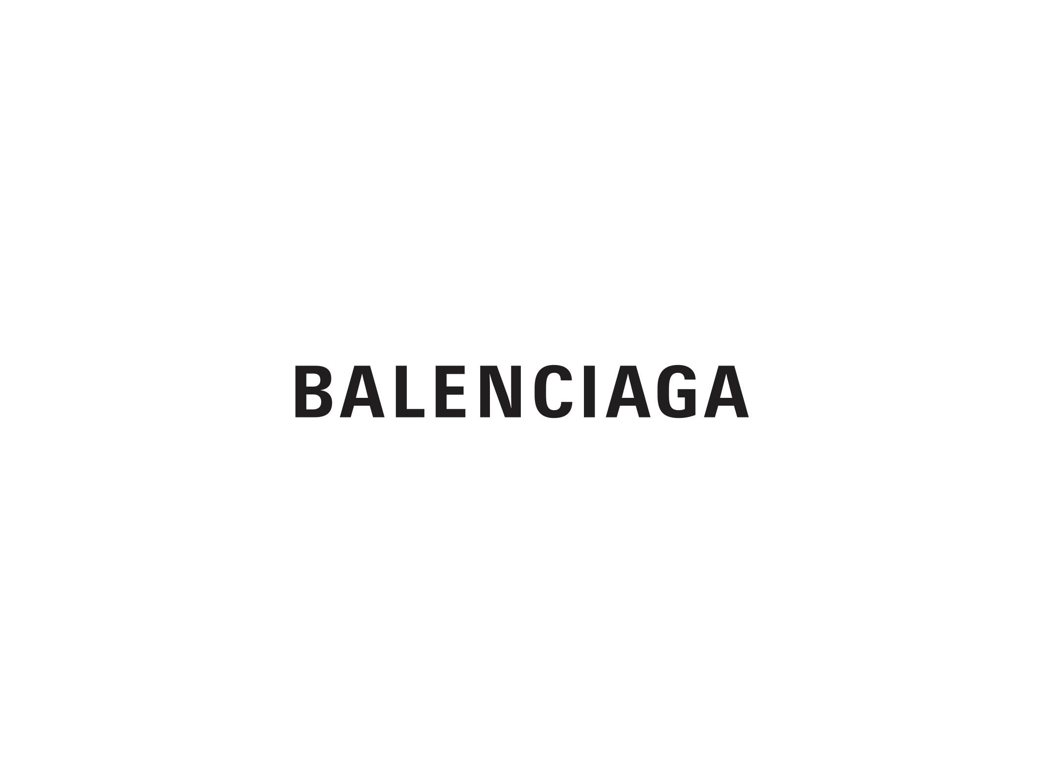 Balenciaga's new logo.