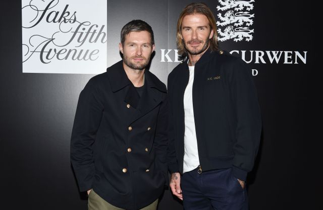 Daniel Kearns and David BeckhamKent & Curwen x Saks Fifth Ave cocktail party, Spring Summer 2018, New York Fashion Week, USA - 11 Sep 2017