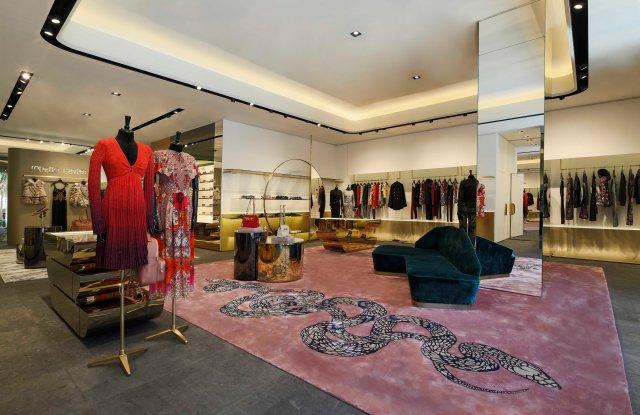 The new Roberto Cavalli Beijing Sanlitun store.