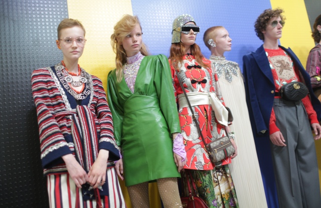Backstage at Gucci RTW Spring 2018