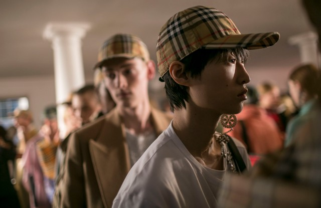 Backstage at Burberry RTW Spring 2018