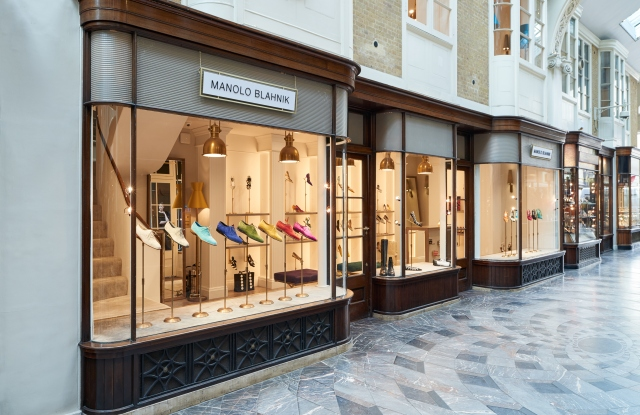 Manolo Blahnik's Burlington Arcade boutique