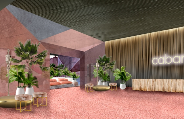 Rendering of Cabana trade show in New York.