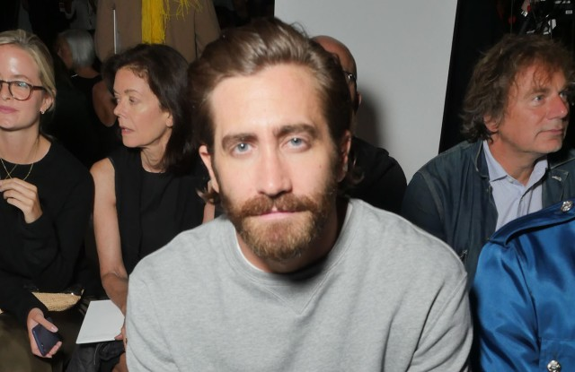 Jake Gyllenhaal in the Front Row at Calvin Klein RTW Spring 2018