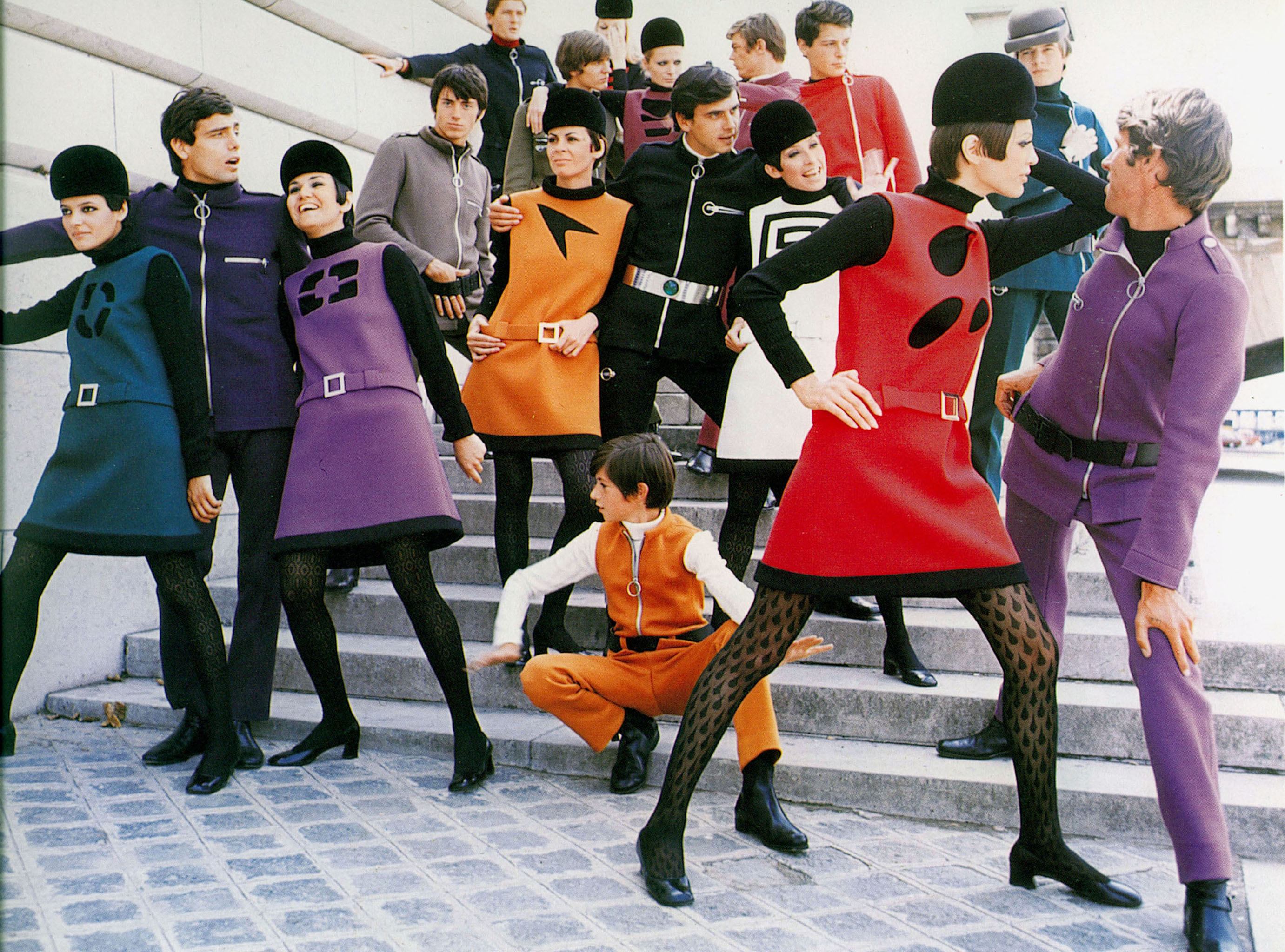 Pierre Cardin, Cosmocorps collection, 1967.Photograph by Yoshi Takata/DR.