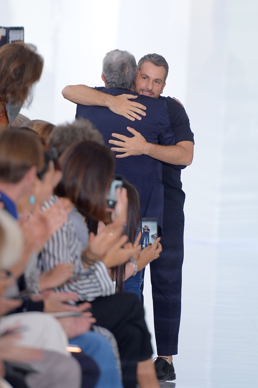 Paul Surridge and Roberto Cavalli on the catwalkRoberto Cavalli show, Runway, Spring Summer 2018, Milan Fashion Week, Italy - 22 Sep 2017
