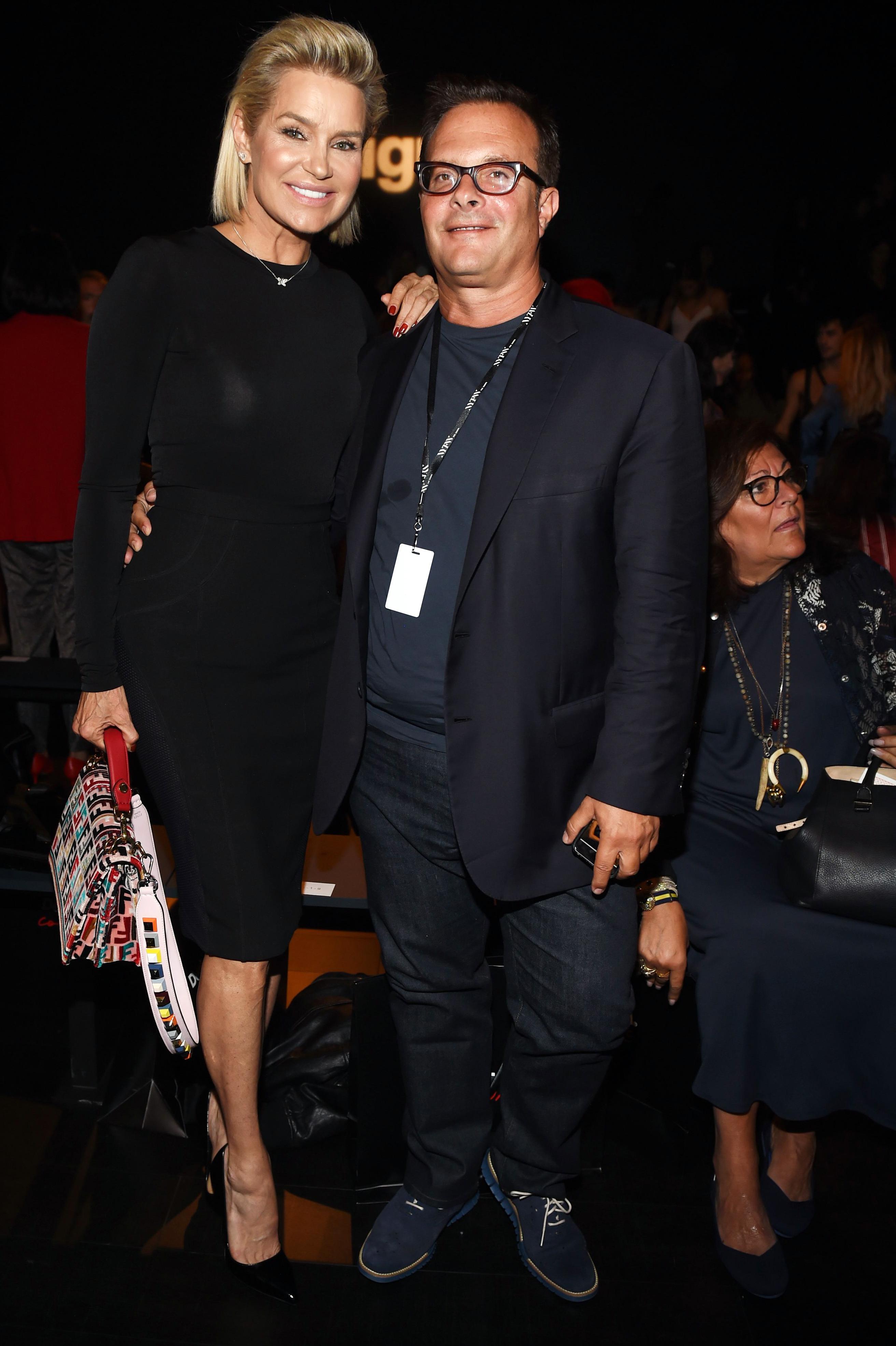 Yolanda Hadid and Ivan Bart in the front rowDesigual show, Front Row, Spring Summer 2018, New York Fashion Week, USA - 07 Sep 2017
