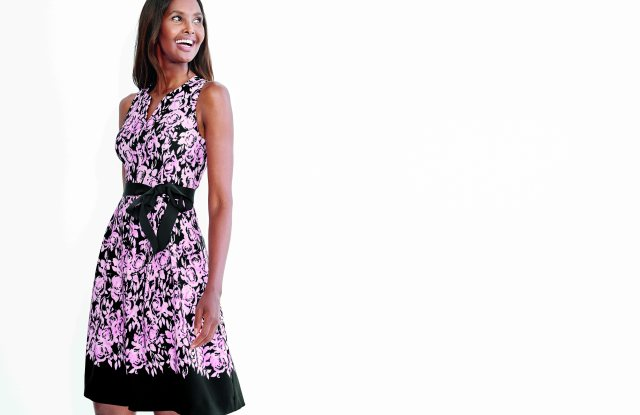 Carmen Marc Valvo's limited edition dress for Dress Barn.