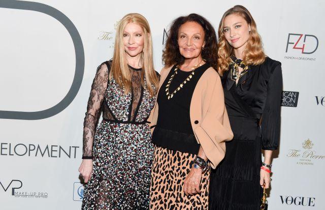 Evie Evangelou, Diane von Furstenberg, Beatrice Borromeo CasiraghiFashion 4 Development First Ladies Lunch, The Pierre, New York NY, USA - 19 Sep 2017
