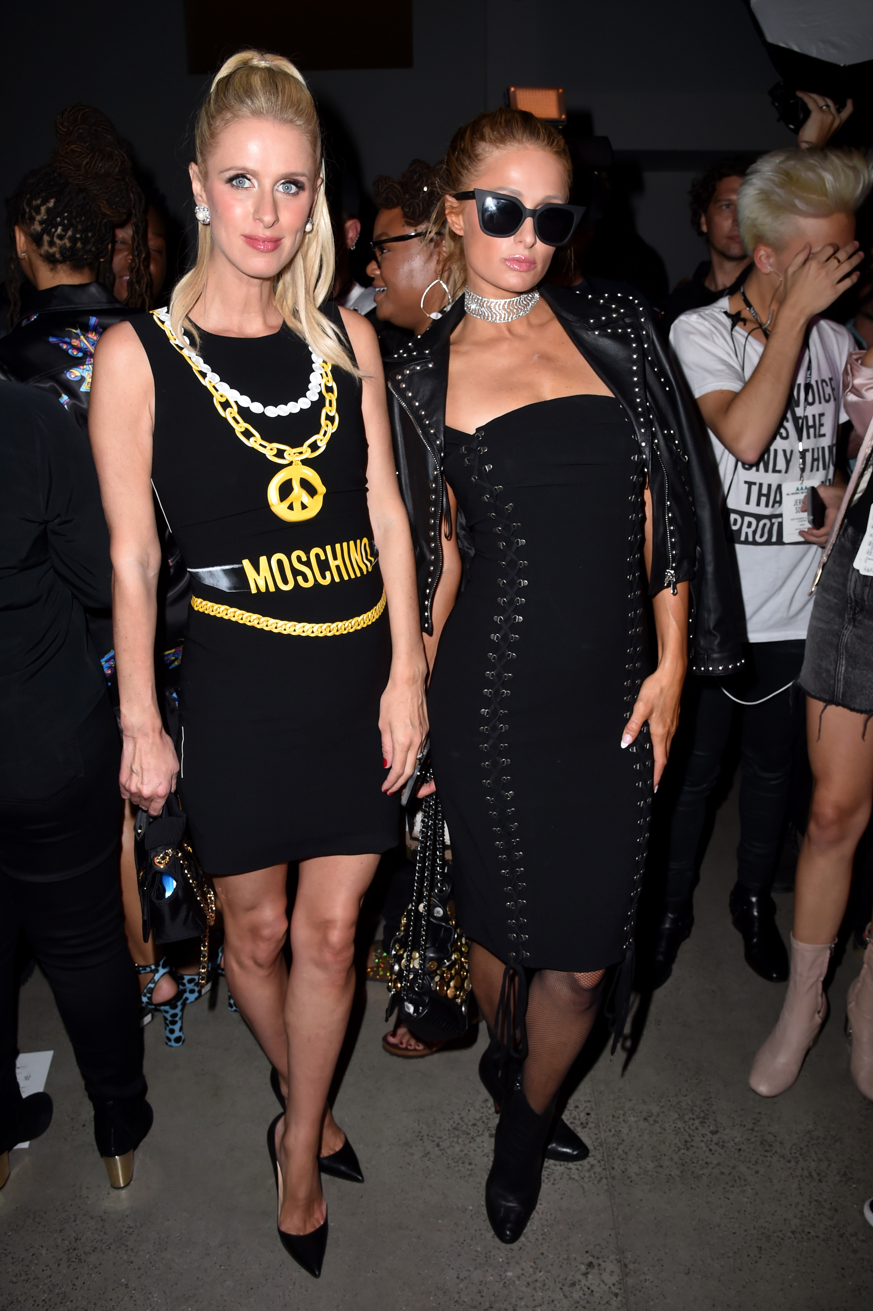 Nicky Hilton and Paris Hilton in the front row