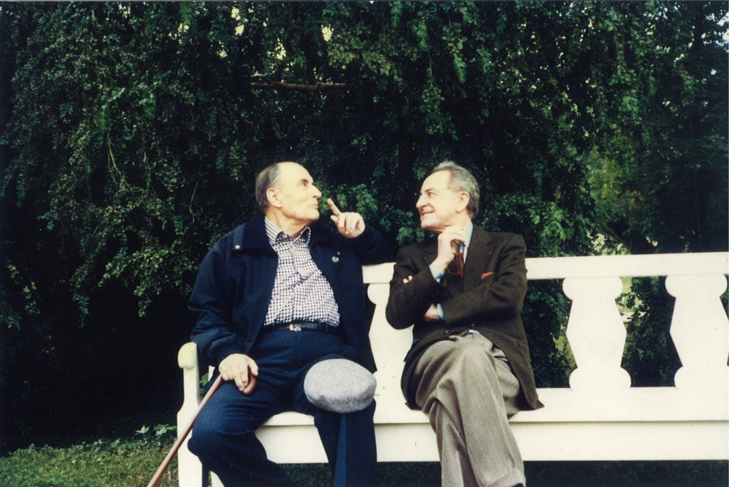 Pierre Bergé and François Mitterrand