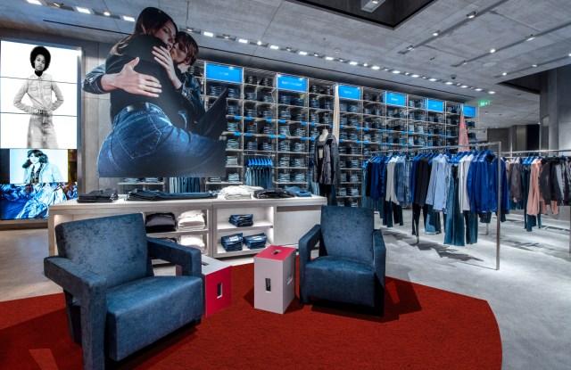 The Calvin Klein store in Shanghai.