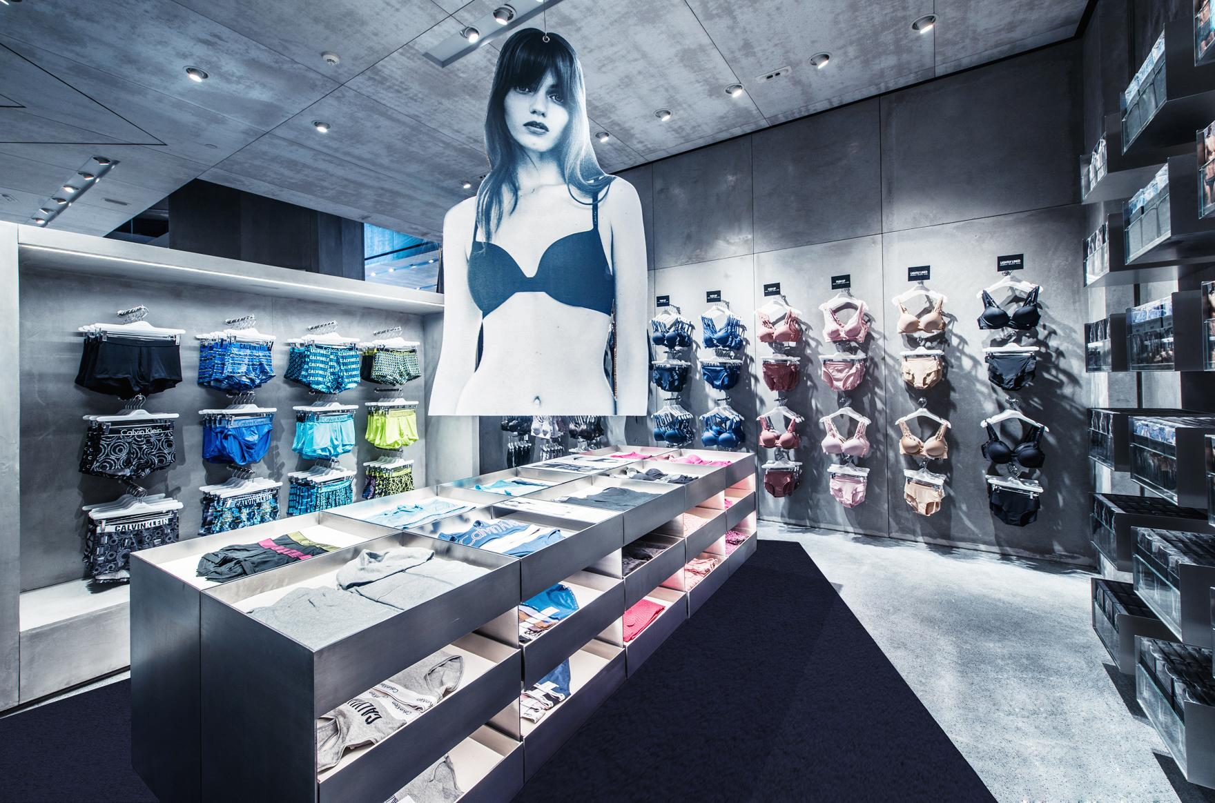 The new Calvin Klein store in Shanghai.