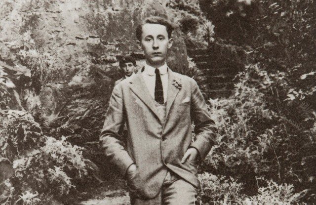 Christian Dior in Villa Les Rhumbs garden photographed in the 1920s.