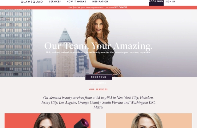Glamsquad's web site and app saw a refresh this week.