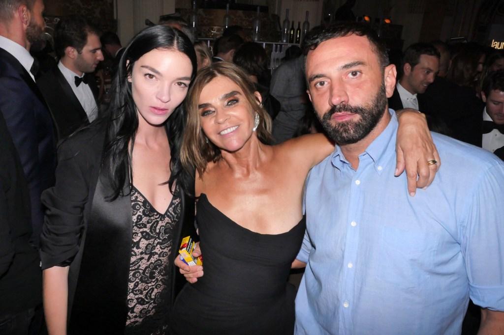 Mariacarla Boscono, Carine Restoin-Roitfeld and Riccardo Tisci