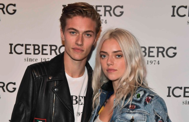 Lucky Blue and Pyper America Smith at the Iceberg event in Milan.
