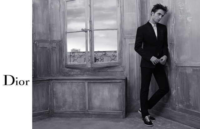 Robert Pattinson in the spring 2018 Dior Homme campaign.