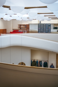 Isaia maintained all the original design features of the space.