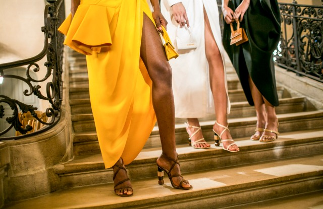 Backstage at Jacquemus RTW Spring 2018