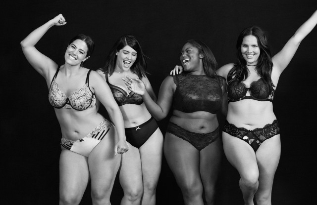 Lane Bryant's campaign for Cacique intimates.