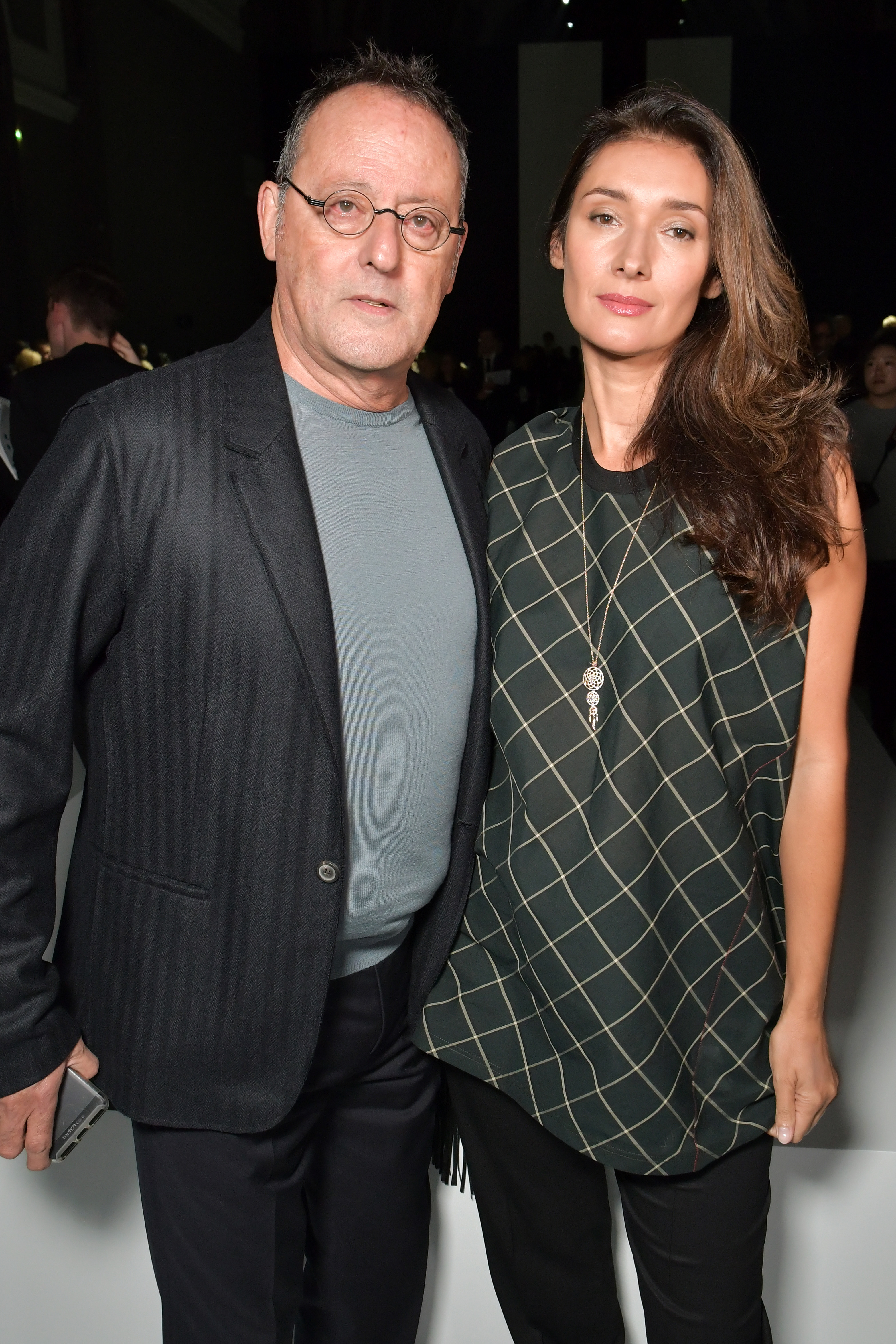 Jean Reno and Zofia Borucka in the front rowLanvin show, Front Row, Spring Summer 2018, Paris Fashion Week, France - 27 Sep 2017