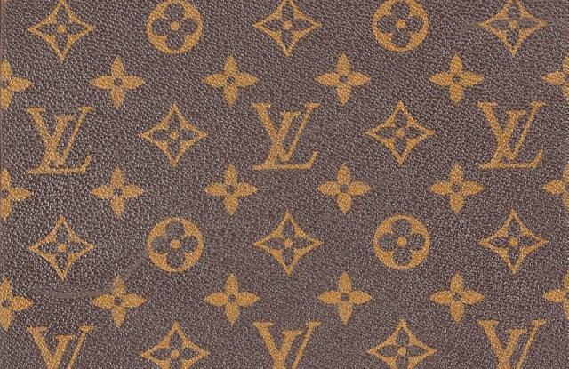 A Louis Vuitton script cover