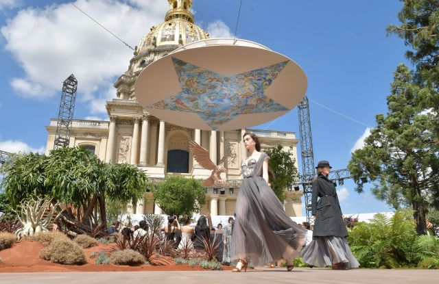 Model on the catwalkChristian Dior show, Runway, Fall Winter 2017, Haute Couture Fashion Week, Paris, France - 03 Jul 2017