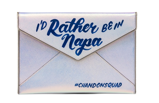 The limited-edition #ChandonSquad Leo clutch.