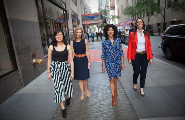 Traci Lee, Sandra Lilley, Amber Payne and Brooke Sopelsa of NBC News.
