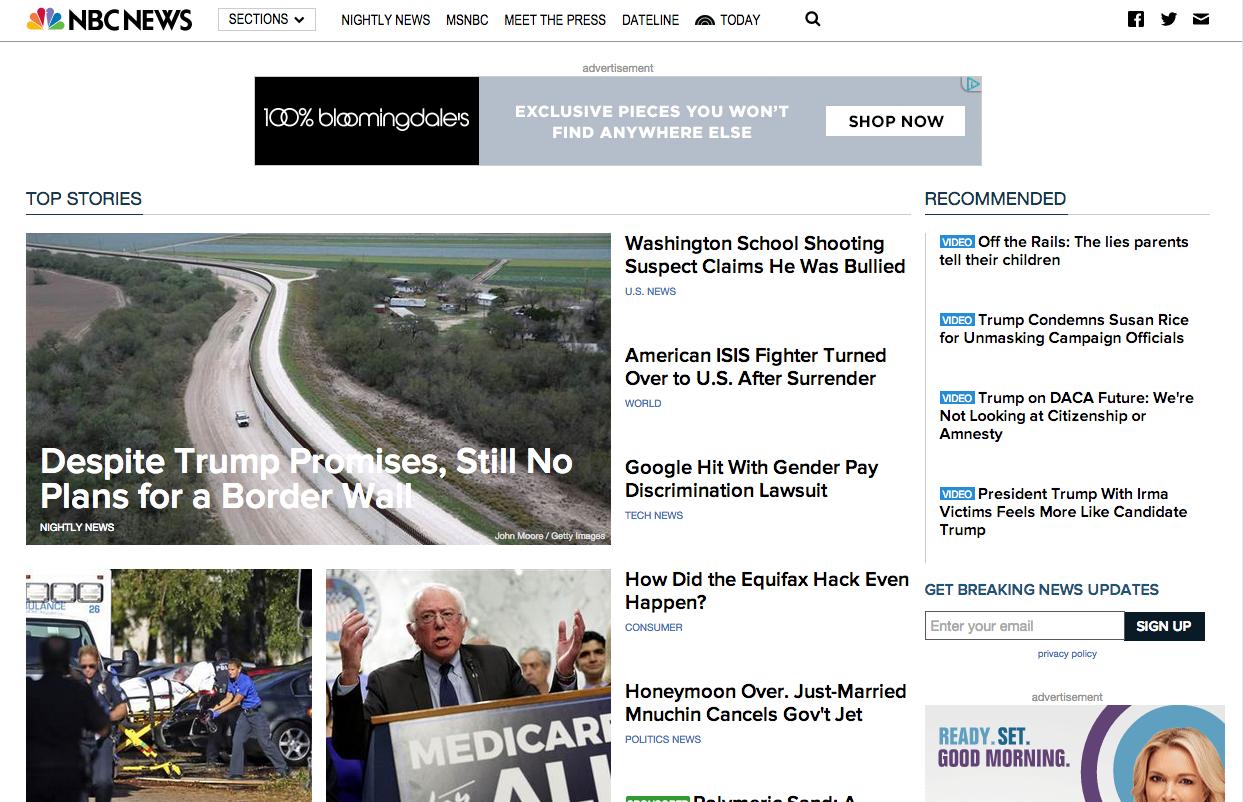NBC News' digital site.