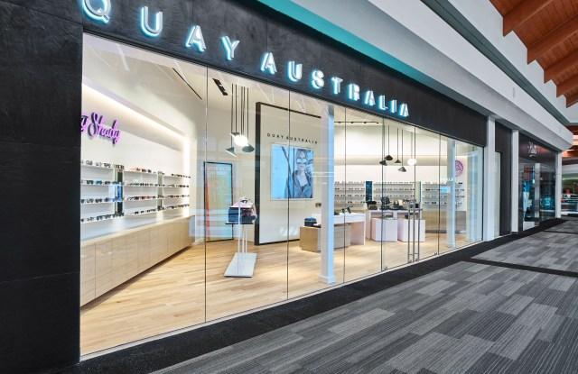 Quay Australia's first store in the Brea Mall.