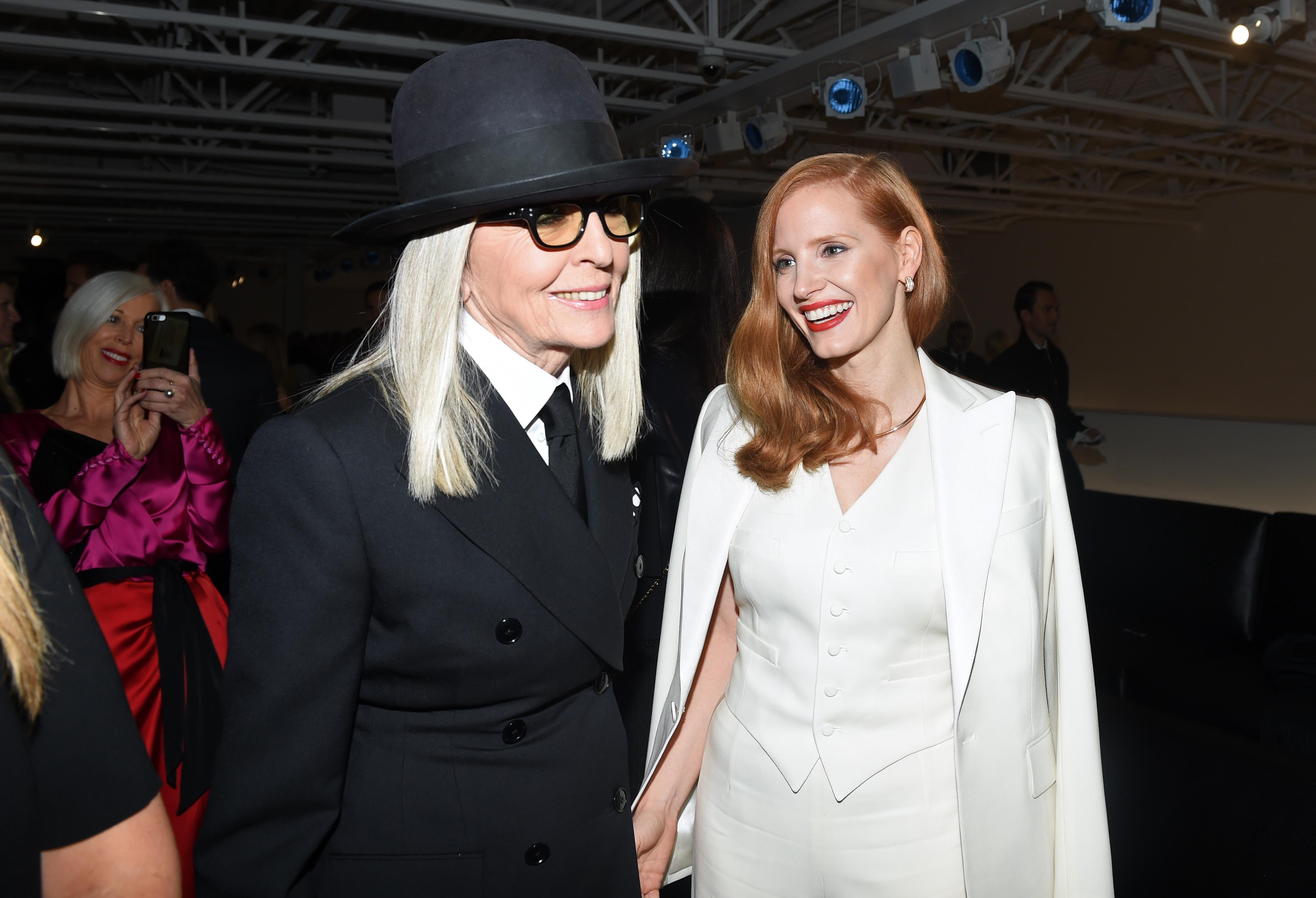 Diane Keaton and Jessica ChastainRalph Lauren show, Arrivals, Spring Summer 2018, New York Fashion Week, USA - 12 Sep 2017
