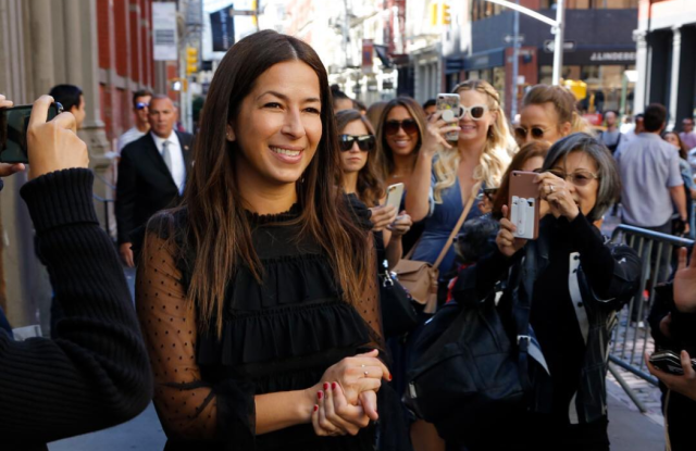 Rebecca Minkoff outside her store in SoHo.