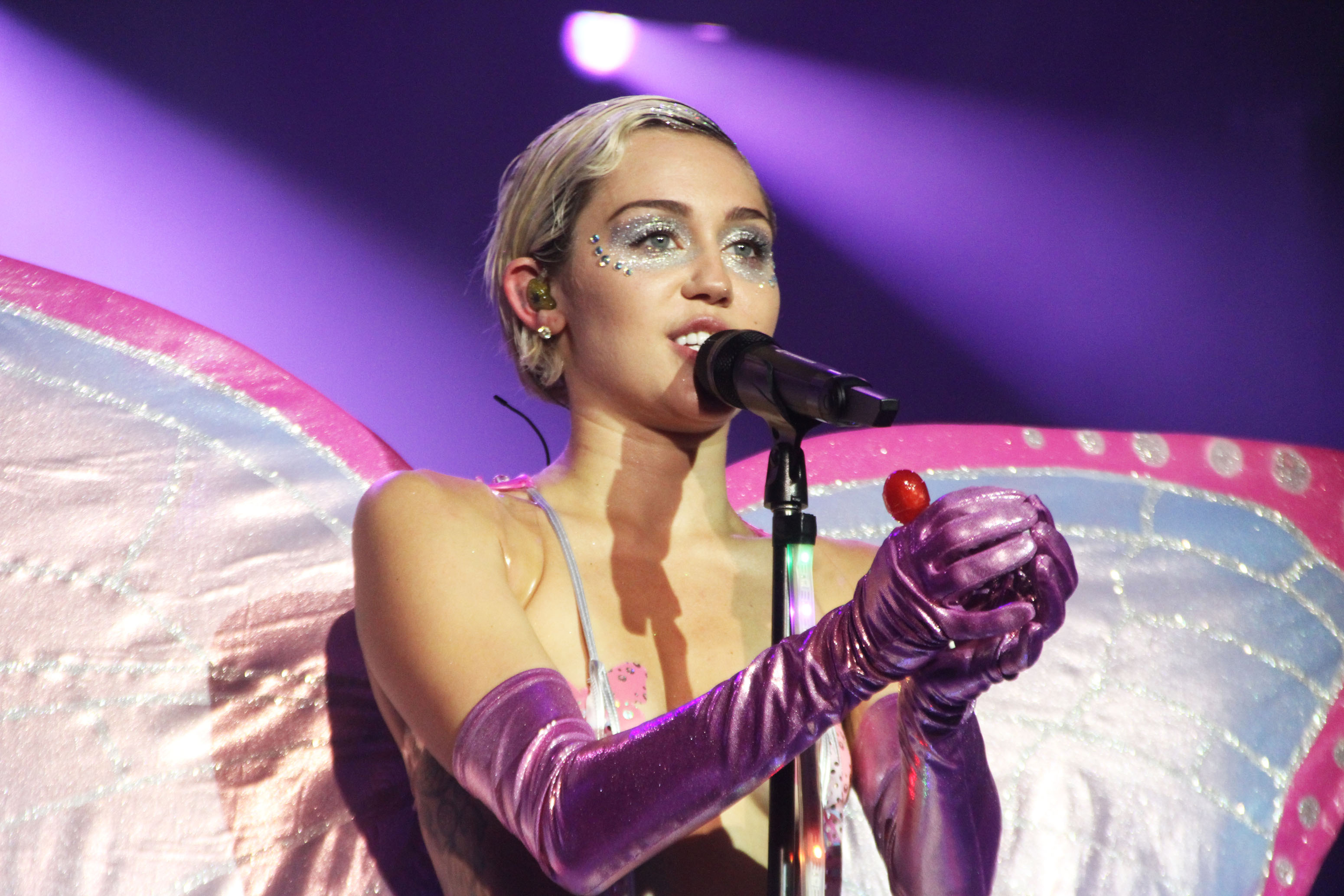 Miley Cyrus in concertAdult Swim Upfront Party, New York, America - 13 May 2015