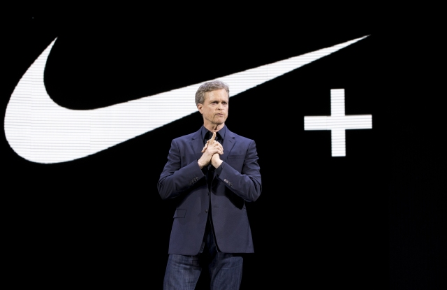 Mark Parker Nike CEO Mark Parker speaks during a news conference, in New YorkNike Innovations, New York, USA