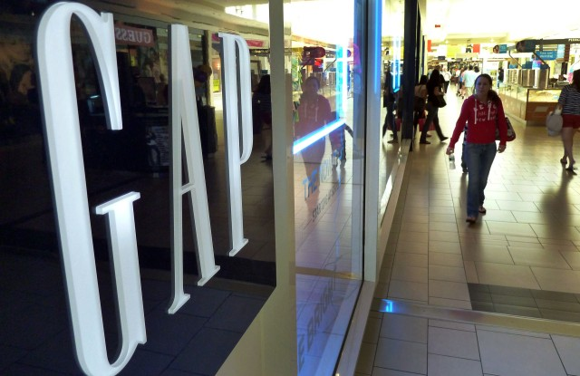 Shoppers walk by the GAP store at a shopping mall in Peabody, Mass. Doris Fisher and her late husband Donald founded the Gap in San Francisco in 1969. Gap Inc. has grown to include Banana Republic and Old Navy brands, among others, and operates over 3,000 stores across the world. Fisher is 42nd on Forbes's 2012 400 listUS--Forbes List-Self-Made Women, Peabody, USA